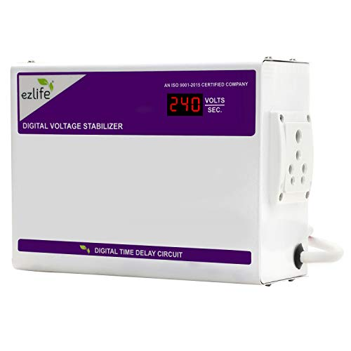 EzLife EZ-200 Digital Washing Machine, Xerox Machine and Other Applliances Stabilizer (Digital Display) (Working Range: 170V-270V / 50 Hz - with 5A and 16A Socket)