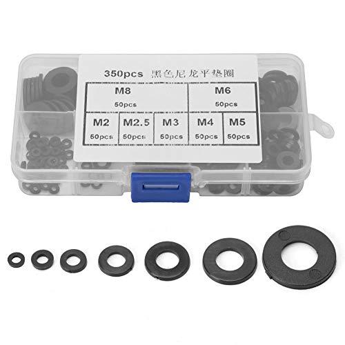 Nylon-Flachdichtungsring-Kit Flachdichtungssatz, Kunststoff-Unterlegscheibe, für Sanitär-Stoßdämpfer