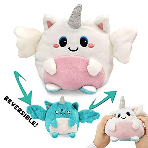 Reversible Plush Toys Stuffed Cute Angle Doll Double Side Animal Mood Plush Flip to Show Your Mood (Angle)