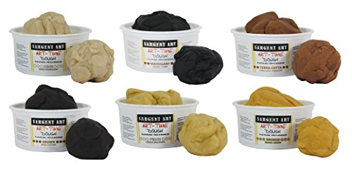 Sargent Art Art-Time Multicultural Dough, Assorted Colors, 1 lb Tubs, Pack of 6, Multi