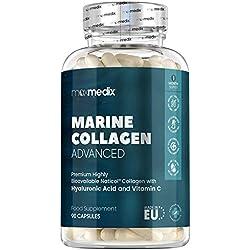 90 cápsulas de colágeno marino, ácido hialurónico, coenzima Q10, vitamina C y zinc