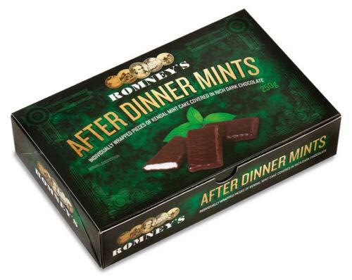 Romneys 250AD Kendal Mint Cake After Dinner Mints, Schokoladenbeschichtung, 250 Stück