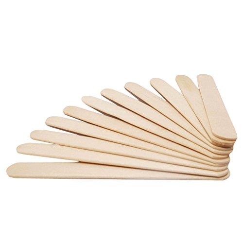 NAYUKY 50pcs Palillos de Helado de Madera de Paleta de Madera Palos de Madera Sticks Sticks Niños Herramienta de la Torta Mano del Arte del Arte de DIY Crafts