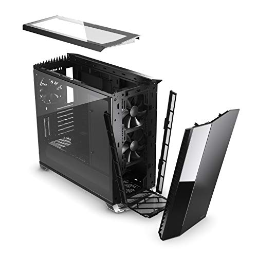 Fractal Design Vector RS Blackout - RGB - Mid Tower Computer Case - ATX - Optimized For High Airflow And Silent Computing - PSU Shroud - Modular interior - Water-cooling ready - Tempered glass