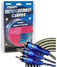 ProLink Dual A/V Series Stereo RCA Plus Composite Video Interconnect Cables - 6 Meter/20 Feet