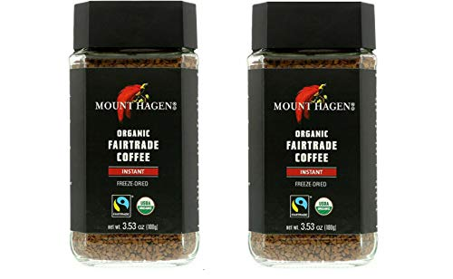 Mount Hagen Organic Freeze Dried Instant Coffee, 3.53 oz pack of 2
