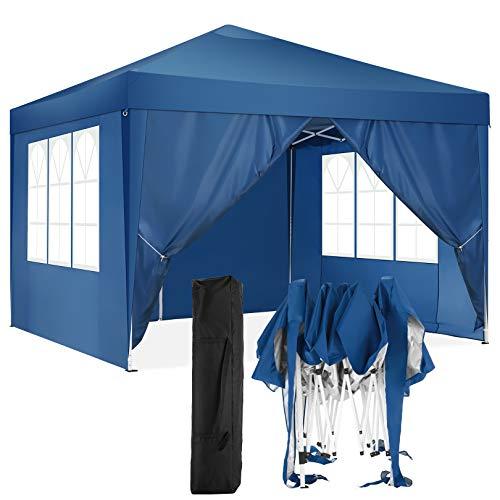 HOTEEL Carpa Plegable 3x3m Carpas y Cenadores Impermeable Cenador de Jardín Protección...