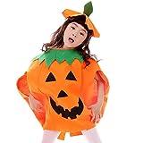 JT-Amigo Costume da Zucca, Bambini e Bambine, Travestimenti Halloween Carnevale, 6-7 Anni