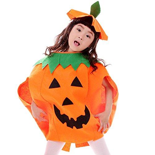JT-Amigo Déguisement Citrouille Enfants Costume Halloween Carnaval, 6-7 Ans