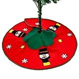 THE TWIDDLERS Pie de �rbol de Navidad - Falda de �rbol con Diseño de Muñeco de Nieve Decoración de Navidad y Regalos en la Base del �rbol - 100 cm de Diámetro