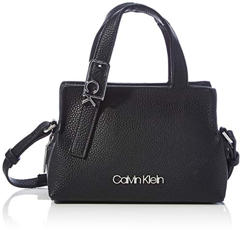 Calvin Klein Tote, Bolso para Mujer, Negro, One Size