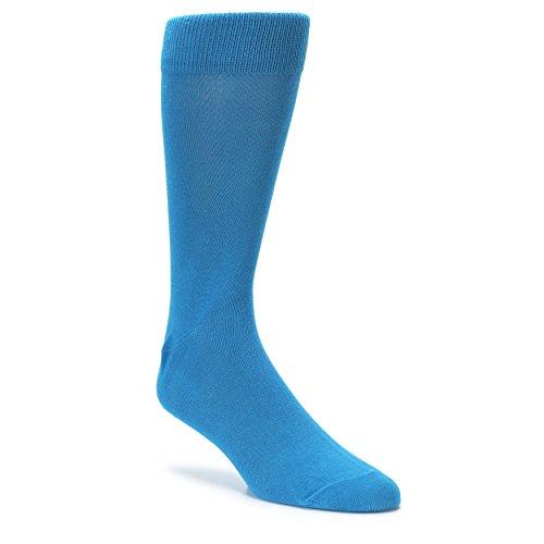 Boldsocks Solid Color Men's Dress Socks (8-12, Teal)