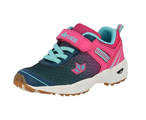 Lico BARNEY VS Mädchen Multisport Indoor Schuhe, Marine/ Pink/ Türkis, 40 EU