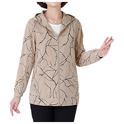 Abrigo de talla grande de mediana edad de las mujeres mayores abrigo primavera otoño sección delgada