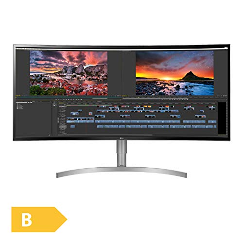 LG 38WK95C-W 95,25 cm (38 Zoll) Curved 21:9 UltraWide™ IPS Monitor (QHD+, HDR10, USB-Type C, AMD Radeon FreeSync), weiß