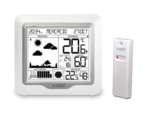 La Crosse Technology WS6823WHI-SIL Station météo, Blanc/Argent