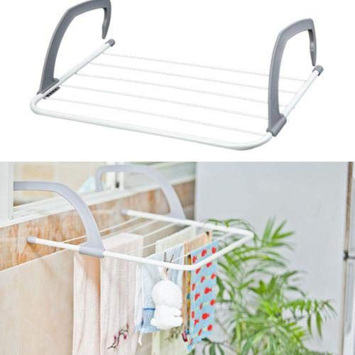 Bahob® Wäscheständer für Heizkörper, zusammenklappbar, kompakt, 5 bar, für Innenbereich, Wäsche, Handtuch, Wäschetrockner mit verstellbaren Armen (55 cm x 33 cm)