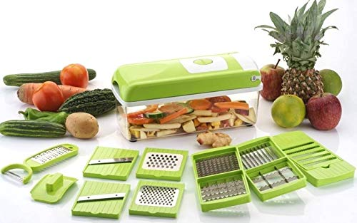 Bluewhale Advance 12 in 1 Multi-Purpose Vegetable & Fruit Grater, Slicer, Cutter, Vegetable & Fruit Chopper (1 Chopper Set)