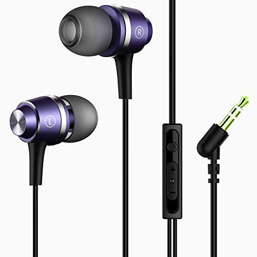 Mpow Auriculares in-ear y Micrófono Cancelación de Ruido Auriculares con Cable de Alta Fidelidad para iPhone, Huawei, iPad, iPod, Nokia, HTC, MP3, Xiaomi, Bq, Sumsung, Jugadores