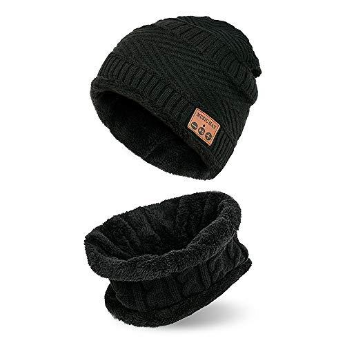 Shot Case Schutzhülle mit Bluetooth für Wiko Rainbow Lite, mit integrierten Kopfhörern und verstellbaren Universal-Tasten für den Winter, Schwarz