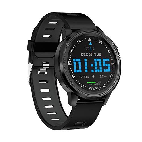 LYB Para Huawei Mate 30E Pro P40 Mate 40 Pro Mate X 20 X Honor X10 Smart Watch Hombres Presión Arterial Ritmo cardíaco Deportes Fitness Relojes (Color: Negro)