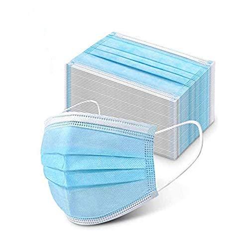 Moon-Valley 50 Einweg-Gesichtsmasken Schützende Mund-Nasen-Bedeckung mit 3-lagigem Mundschutz elastischem Gummizug bequemem