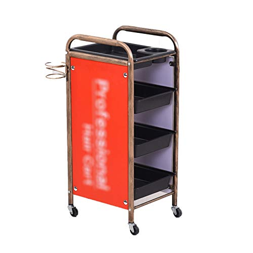 WNN-URG Heavy Duty 4-Tier Metal Rolling Cart, Mobile Storage Organizer, Home Storage Trolley Serving Cart, Suitable for Hairdressing beauty shop Kids Room Laundry Room URG (Size : Four floors)