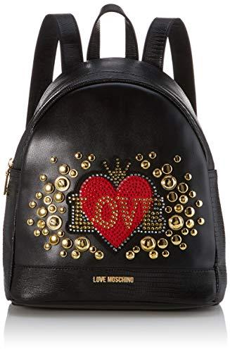 Love Moschino Pu, Borsa a Zainetto Donna, Nero (Nero), 30x11x28 cm (W x H x L)