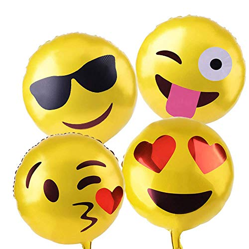 Xpizo Emoticon Party Luftballons Smiley Ballons (11Stück)