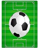 XZDPPTBLN Mantas de Franela Súper Suave de Lana Campo de fútbol Verde Mantas con Estampados Esponjosa y Cálida Mantas para la Cama y el Sofá 70cm x 100cm