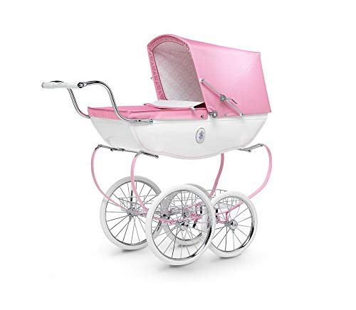 Silver Cross Dolls Pram, Princess Pink Children's Toy Pram with Rag Doll, Pram Cushion and Changing Bag Accessory, Suitable for Ages 3 Years +