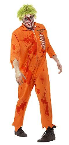Smiffy's Generic - 355 700 - Disfraces de Halloween Hombre Prisionero del zombi - Medium