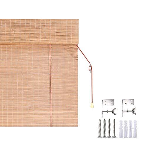 DIYH Persiana Enrollable Persiana Bambu Exterior 60x135cm 150x175cm, Cortina De Bambú, Estores Enrollables Pantalla De Privacidad, Fácil De Montar, Pabellón del Patio Pergola Veranda Toldos De Jardín