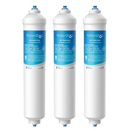 Waterdrop 3X DA29-10105J Filtre à Eau pour Réfrigérateur, Compatible avec Samsung (Uniquement Externe) DA29-10105J DA99-02131B HAFEX/EXP DA2010CB 5231JA2010B Wpro USC100/1 WSF-100