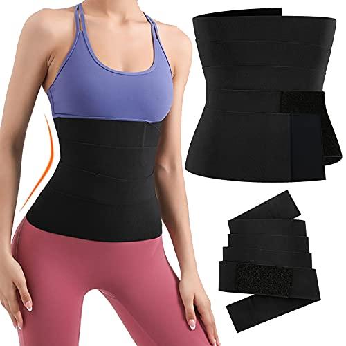 EIYTOZ Tik Tok Snatch Me Up Bandage Wrap,Waist Trainer For Women Stomach,196 Inches Adjustable Invisible Waist Wrap,Postpartum Belly Wrap,Corset Slim...