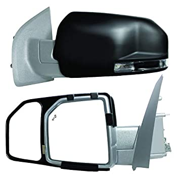 K Source 81850 Snap-On Towing Mirrors for Ford F150  15+  Black