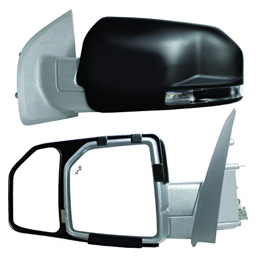 K Source 81850 Snap-On Towing Mirrors for Ford F150 (15+), Black