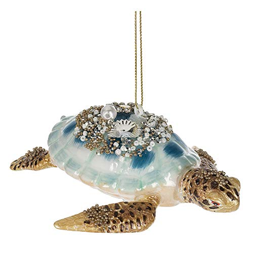 Midwest Gloves Blown Glass Embellished Sea Turtle Ornament