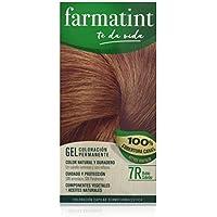 Farmatint Gel 7R Rubio Cobrizo | Color natural y duradero | Componentes vegetales y aceites naturales | Sin amoníaco | Sin parabenos | Dermatológicamente testado