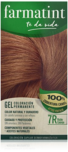 Farmatint Gel 7R Rubio Cobrizo | Color natural y duradero |