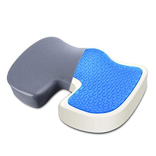 椅子 クッション 腰痛 ゲルクッション 低反発 座布団 骨盤矯正 防止痔疮 美尻 (カバー2枚付き )