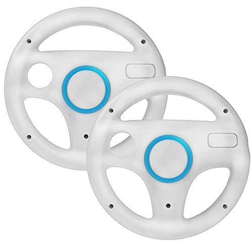 mejores Volantes para Wii booEy 2x Volante para Nintendo Wii y Wii U blanco de Mario Kart