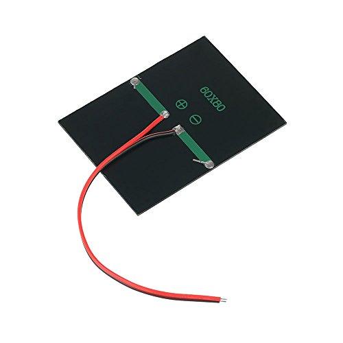 QKP 0.65W 1.5V Polykristalline Silikon-Sonnenkollektor-Solarzelle Für DIY Energien-Aufladeeinheit 60 * 80mm