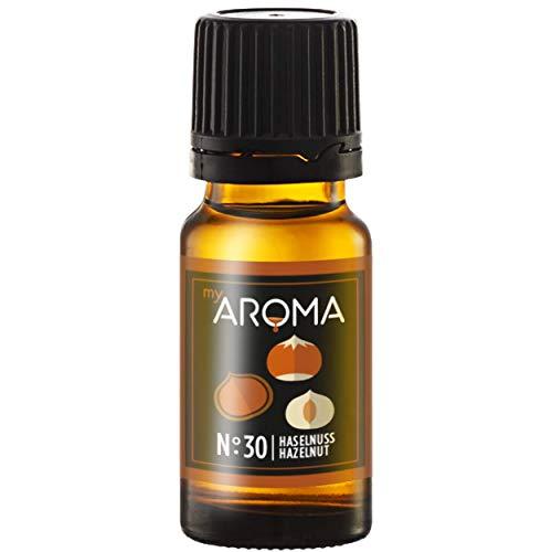 myAROMA | No. 30 (Haselnuss, 10 ml) | Rein natürliches Aroma | Geschmackstropfen zum Kochen, Backen & Mixen | Zuckerfrei & ohne Süßung
