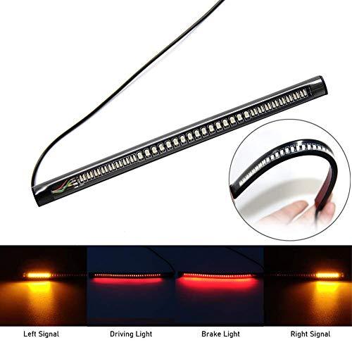 Striscia di luce LED universale flessibile per moto 3° freno coda striscia luci 48SMD 3528 LED striscia luci impermeabile per moto (confezione da 1)