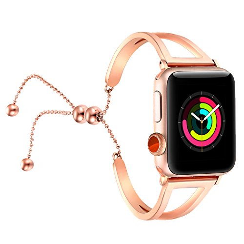 fastgo Bracelet Compatible for Apple Watch Band 38mm 42mm, 2018 Dressy Fancy Jewelry Bangle Cuff for...