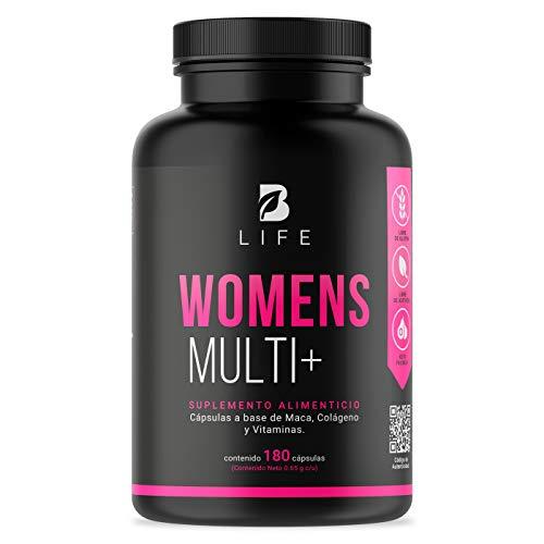 Multivitaminico de Mujer de 150 cápsulas con Maca, Colageno Hidrolizado, Biotina, Acido Folico y Vitaminas. Womens Multi+ B Life