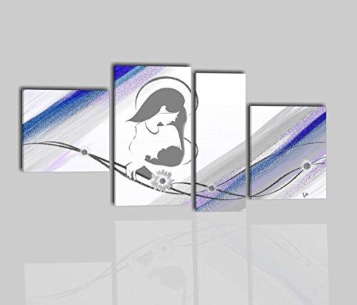 I Colori del Caribe Quadri CAPEZZALI Dipinti A Mano con Glitter Maternita' per ARREDARE Camera da Letto Testata CAPOLETTO 100% Made in Italy - CAREZZE