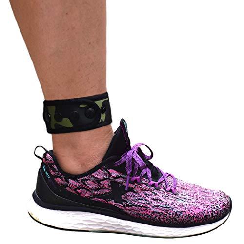 Knöchelriemen für Kompatibel mit Fitbit & Garmin, Knöchelband für Kompatibel mit Charge 2/3 Alta/HR Flex/2 Fitbit One oder Garmin Vivofit/2/3/4, Knöchelband für Damen und Herren (Grün Camo, Medium)