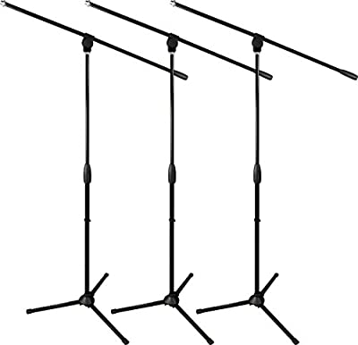 Ultimate Support Classic Series MC-40B Microphone Stand - 3-Pack